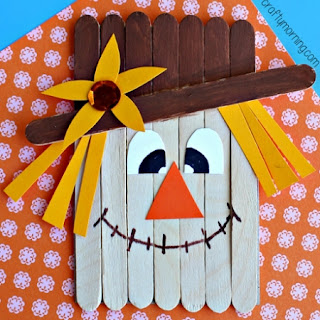 DIY Popsicle Stick Scarecrows