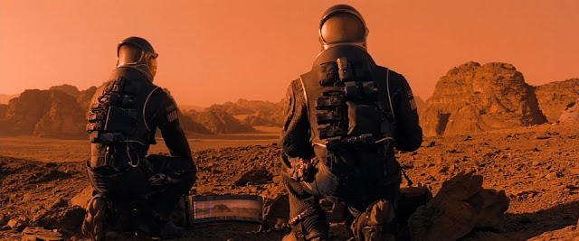 Astronauts on Mars from Red Planet movie