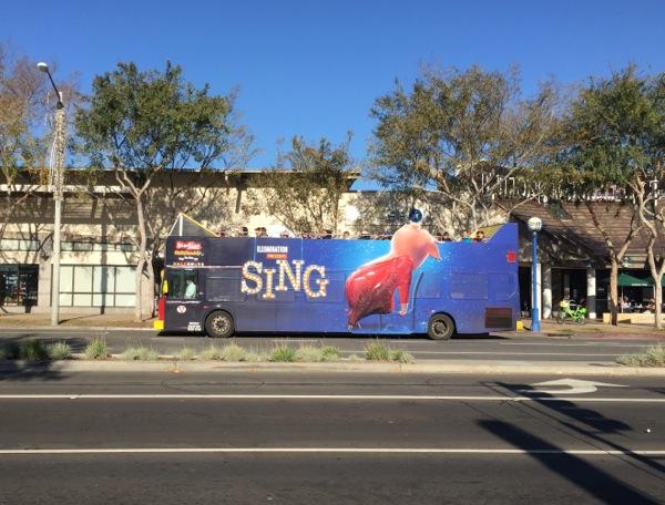 Sing Gunter Pig bus ad