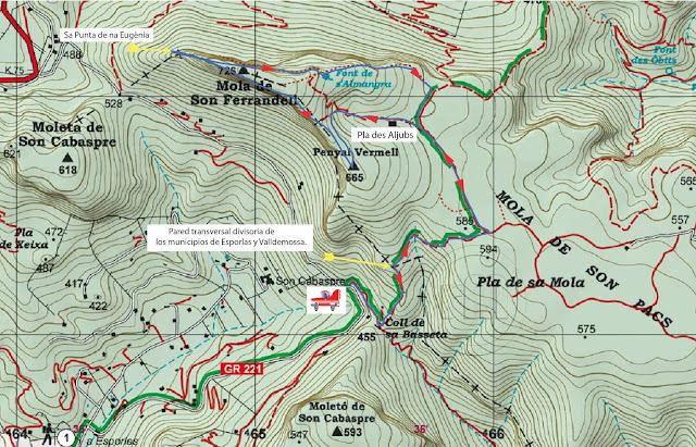 Mapa ruta Mola de Son Ferrandell   -Foto: Rafael Minguillón  -GAME.