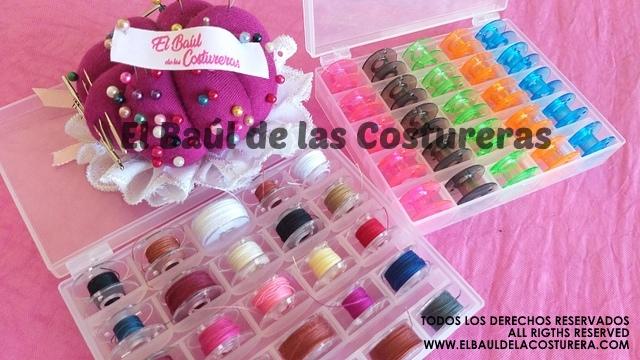 bobinas plásticas de colores para máquina de coser doméstica