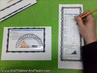 Measuring angles task cards