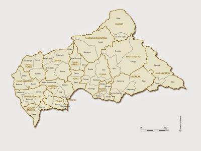 República Centro Africana | Mapas Geográficos da República Centro Africana