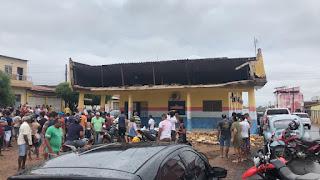 Após desabamento da facha do prédio da Secretaria Municipal de Saúde de Zé Doca-MA, prefeitura emite nota de esclarecimento e lamenta por funcionário que se feriu