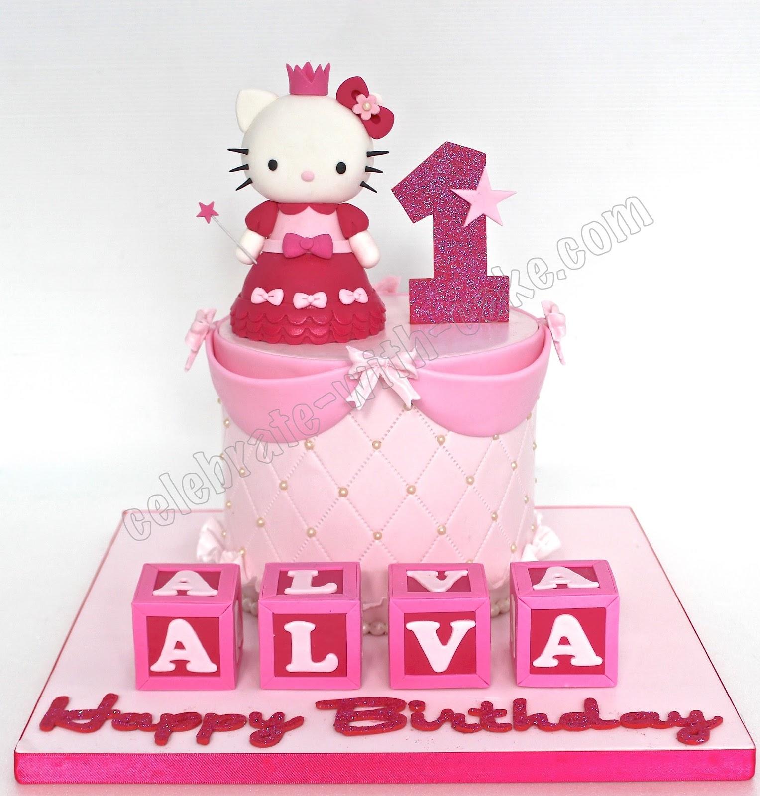 Princess hello kitty 1st birthday cake - Princesse hello kitty ...