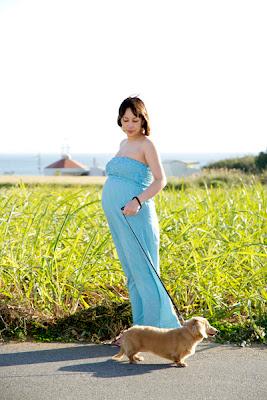 沖縄ペット写真マタニティフォト