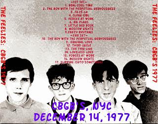 the feelies CBGB 1977