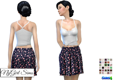 NyGirl Sims 4: Floral Print Skirt