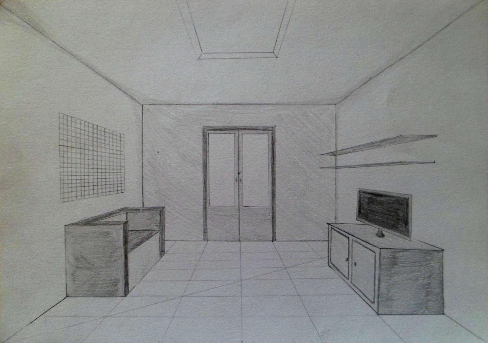 Arts Plastiques Chambre En Perspective | Arts Visuels S 39initier à ...