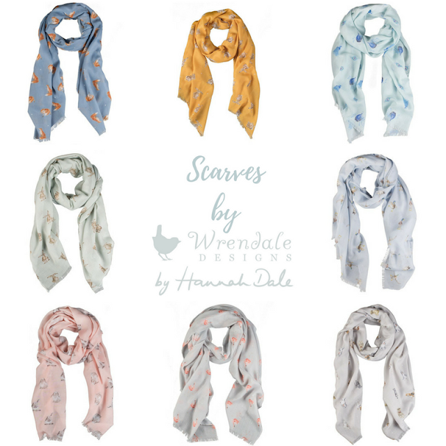 Scarf collection by Wrendale