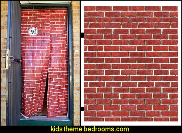 harry potter party ideas Brick Wall Backdrop Party Accessory