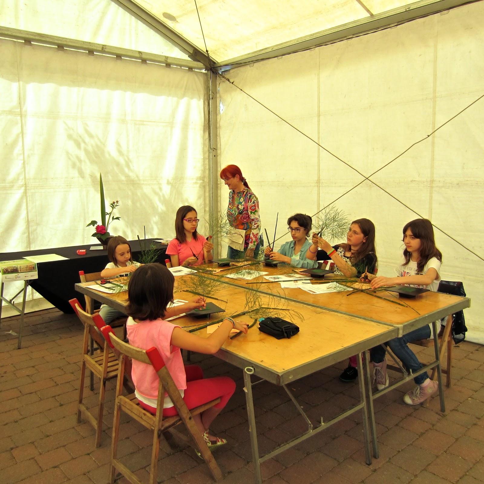 Ikebana-workshop-children-taller-de-ikebana-nens