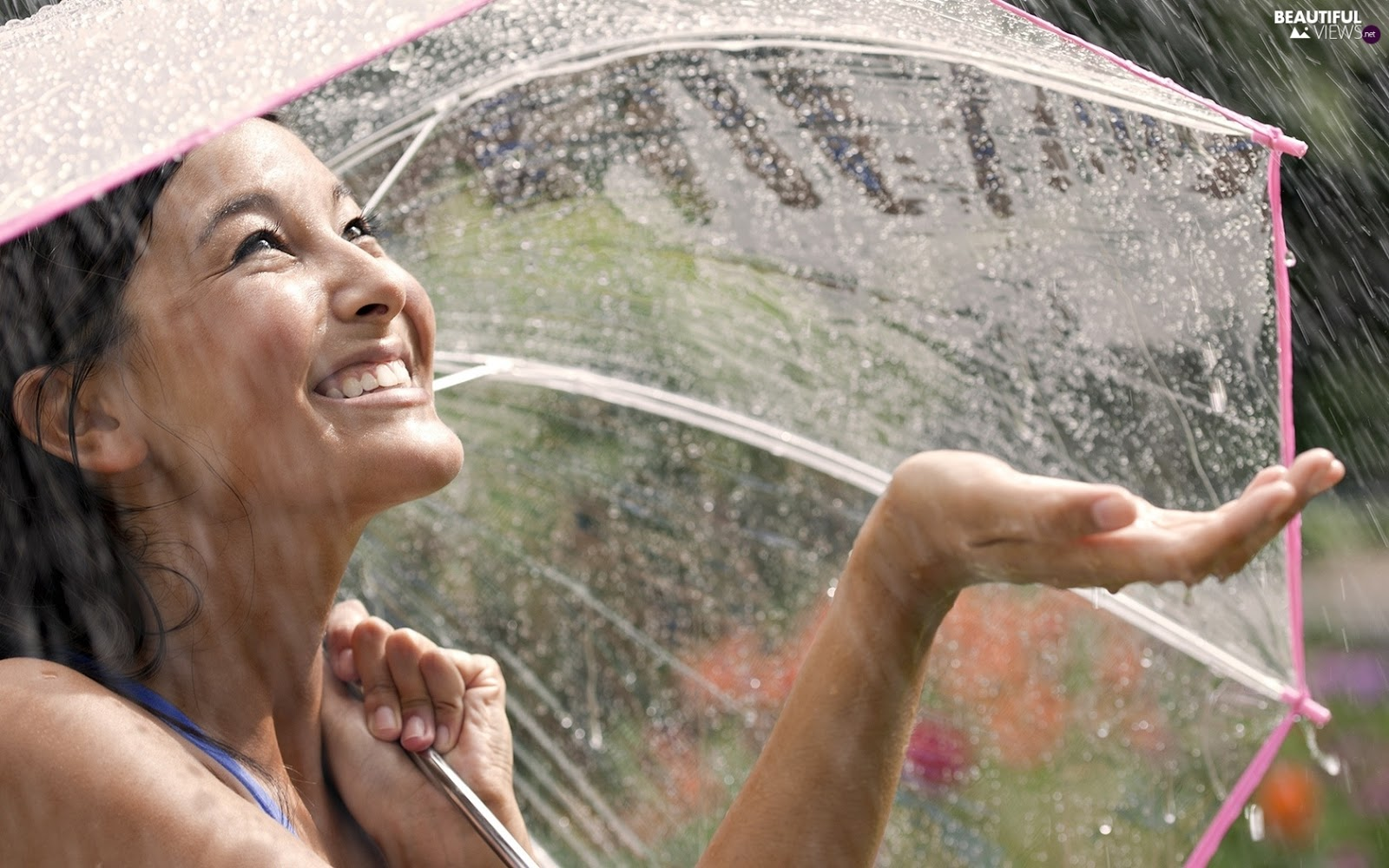 girl smile on rain profile dp for whatsapp and facebook