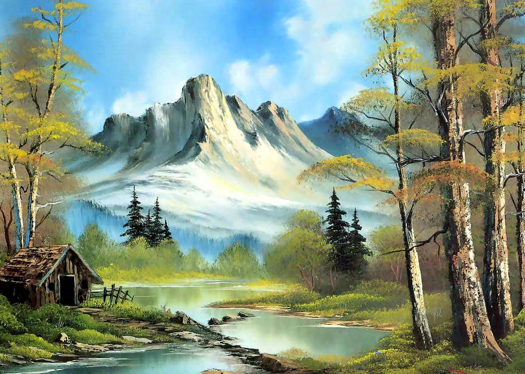 Imágenes Arte Pinturas: PINTURAS AL OLEO PAISAJES CON NIEVE