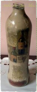 garrafa de suco reciclada