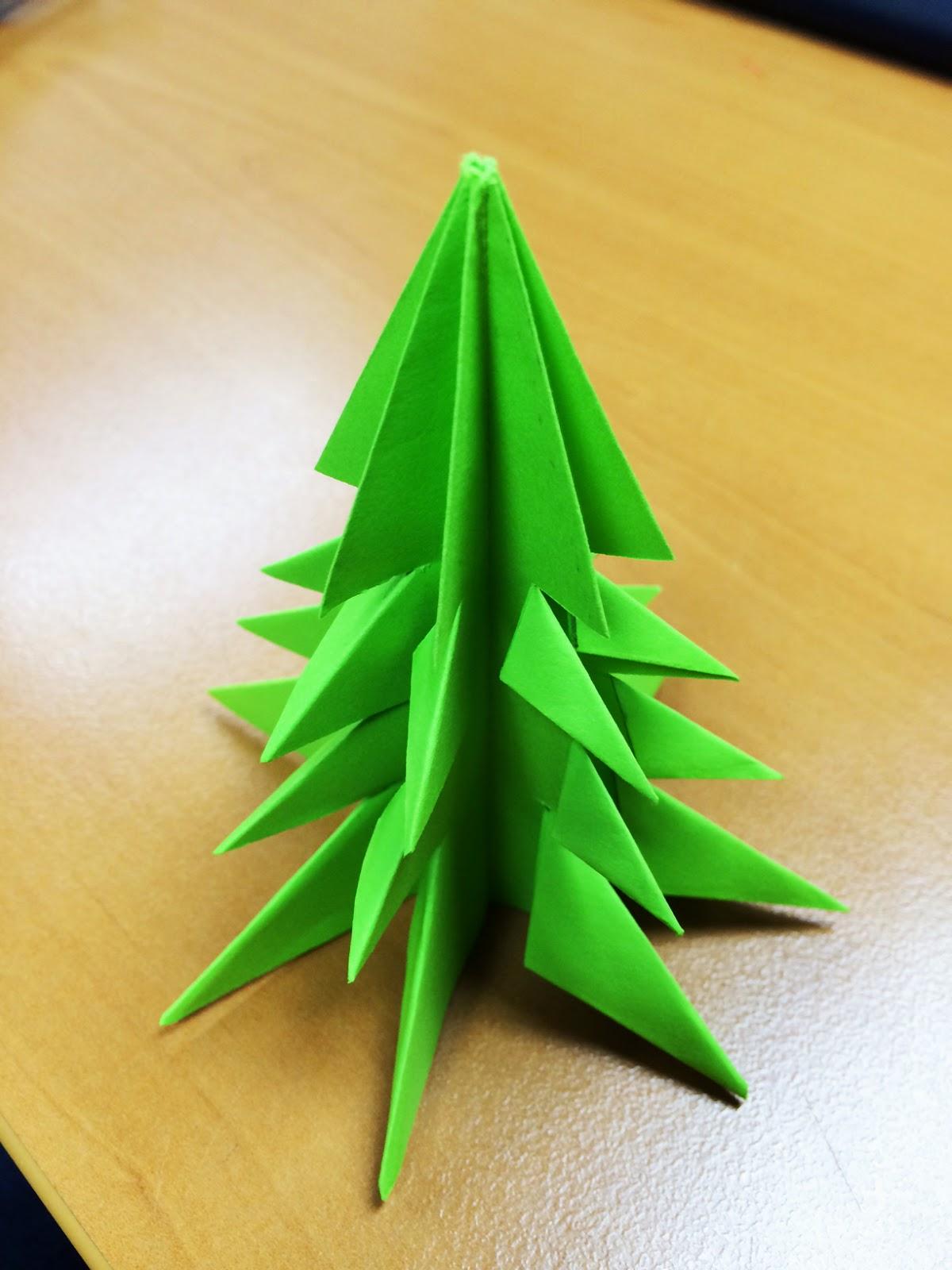 rbol de navidad de papel