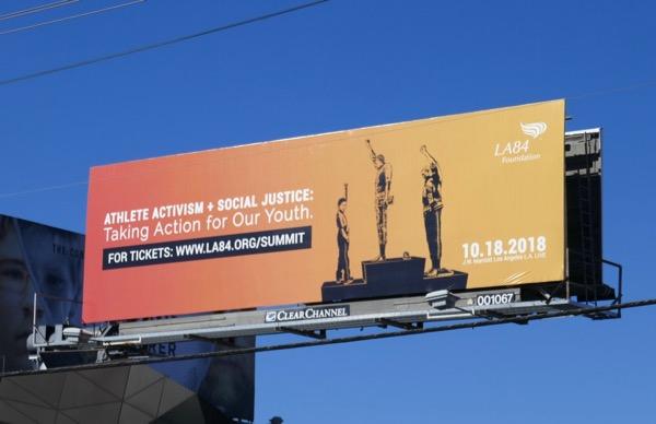 Athlete Activism Social Justice LA84 billboard