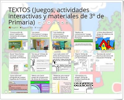 """""""14 Juegos, actividades interactivas y materiales sobre TEXTOS de 3º de Primaria"""""""
