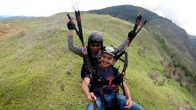 paragliding ranau sabah