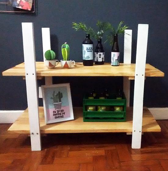 estante de madeira, rack, faça você mesmo, diy, a casa eh sua, acasaehsua, home decor, decor, decoração, home design, móvel, sala