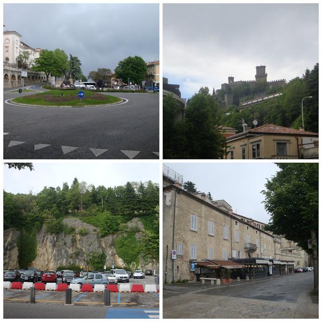 chegando em San Marino - caminho do ponto de ônibus de Rimini até a Porta San Francesco