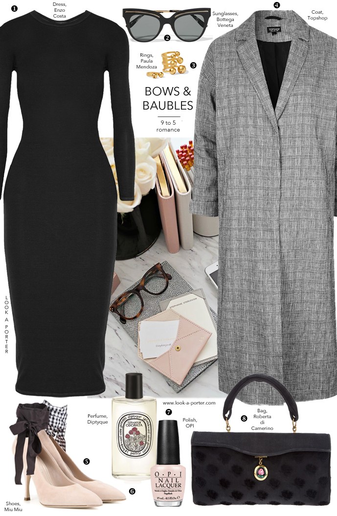 Here's another idea of styling a little black dress via www.look-a-porter.com style & fashion blog