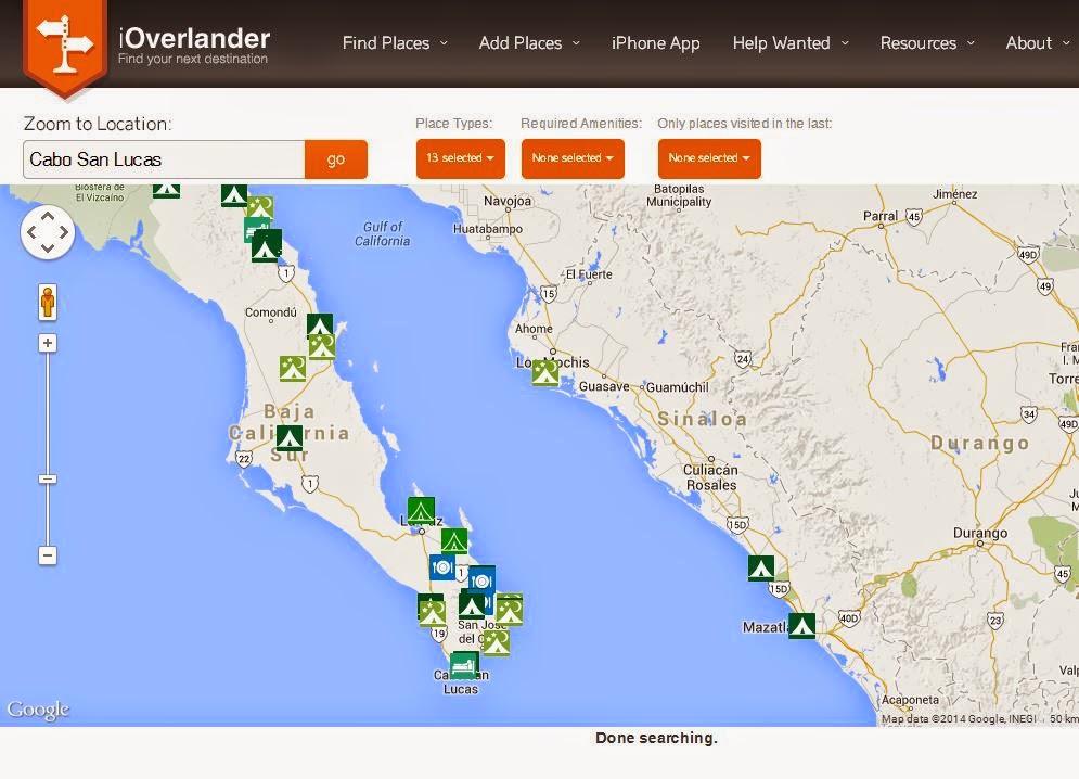 GPS Wegpunkte/Waypoints zum Download. Südamerika, Panamericana, Seitenstraße Transafrika - die Overlanding App