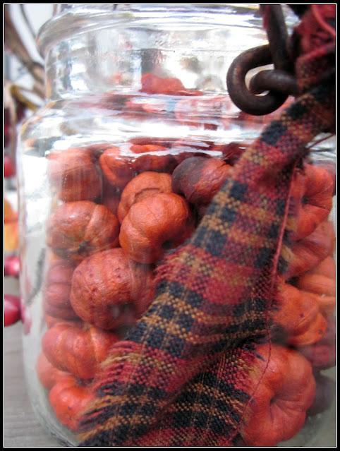 jar of mini pumpkin potpourri