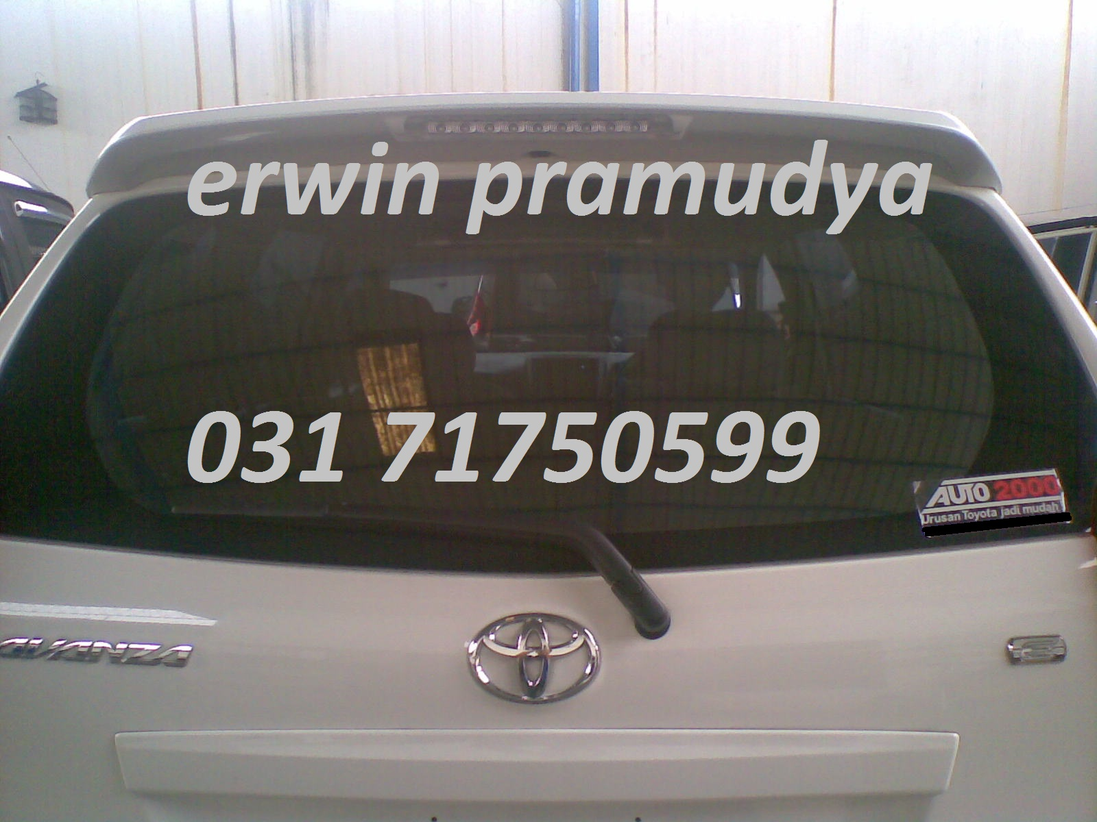 Spoiler Grand New Avanza Veloz 2016 Accessories Mobil Surabaya 3m Auto Film