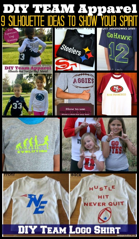 DIY, do it yourself, Silhouette, heat transfer vinyl, HTV, team apparel