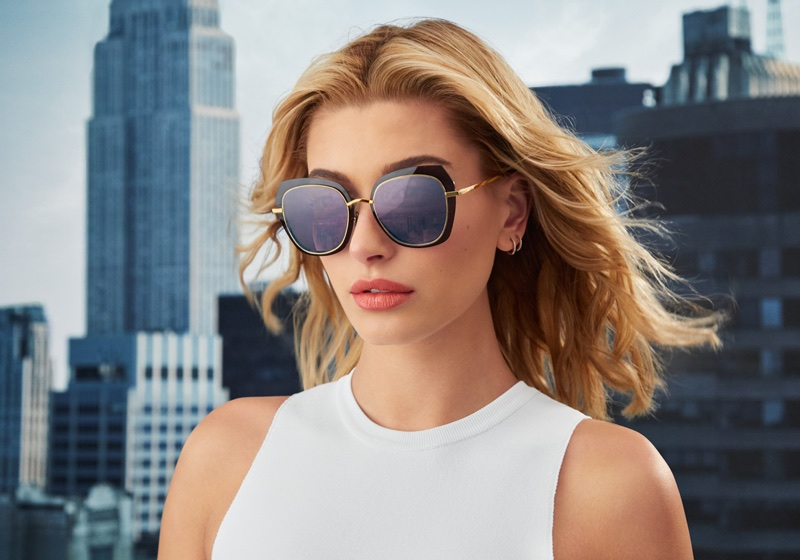 Hailey Baldwin stars in the Bolon Eyewear Campaign
