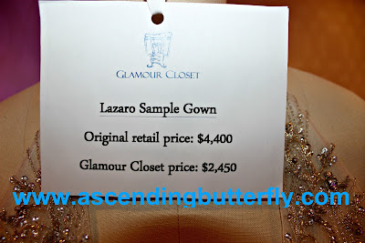Lazaro Sample Gown from Glamour Closet Designer Wedding Dresses at the Wedding Salon Bridal Tradeshow/Expo, New York City