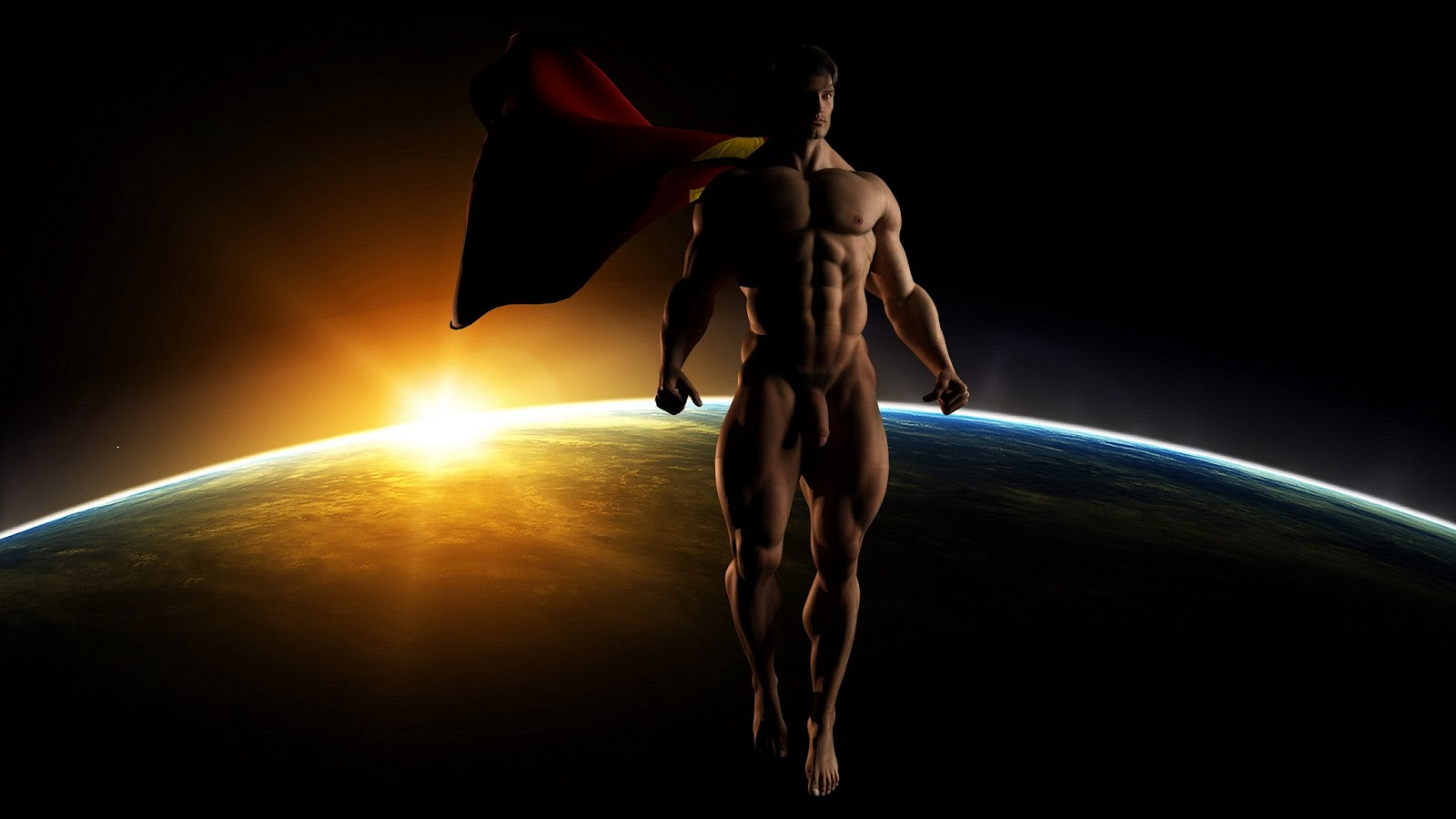 nude Superman naked