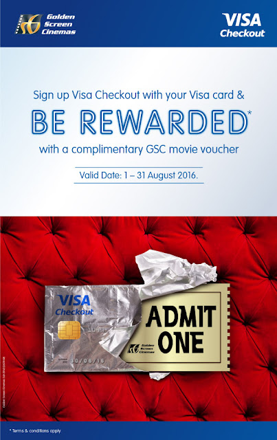 Free GSC Cinemas Movie Ticket Visa Checkout Sign Up