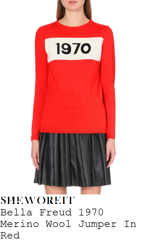 fearne-cotton-bella-freud-1970-red-cream-and-black-slogan-print-long-sleeve-merino-wool-jumper