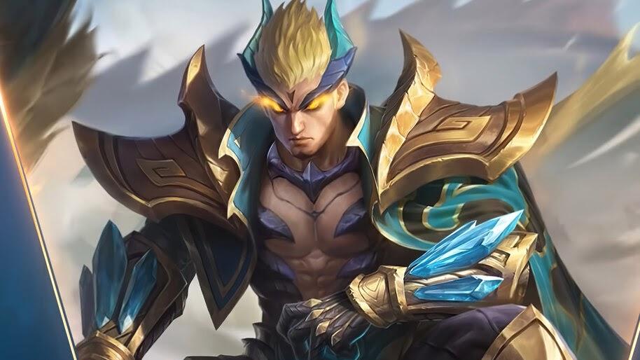 Yu Zhong, Emerald Dragon, Mobile Legends, Skin, 4K, #5.2109