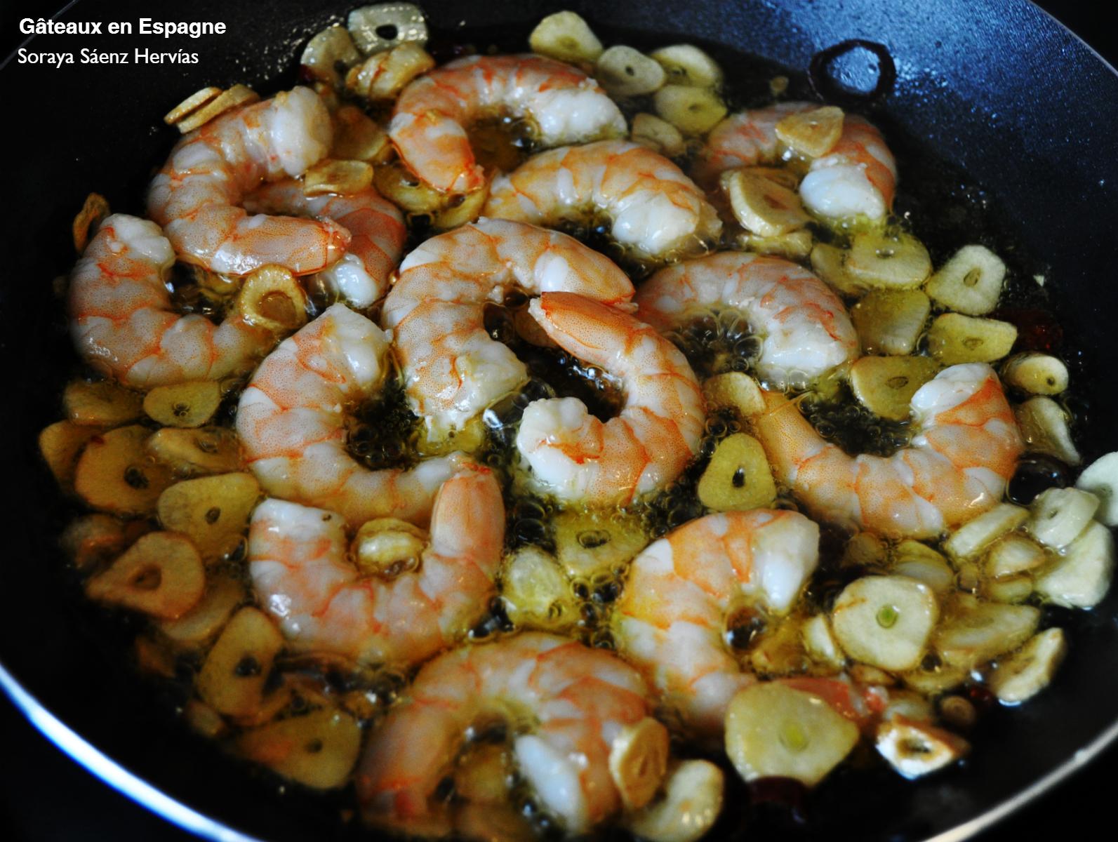 G teaux en espagne recette de crevettes l 39 ail l - Cuisiner gambas surgelees ...
