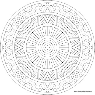 Mixed Patterns Mandala to color- jpg version
