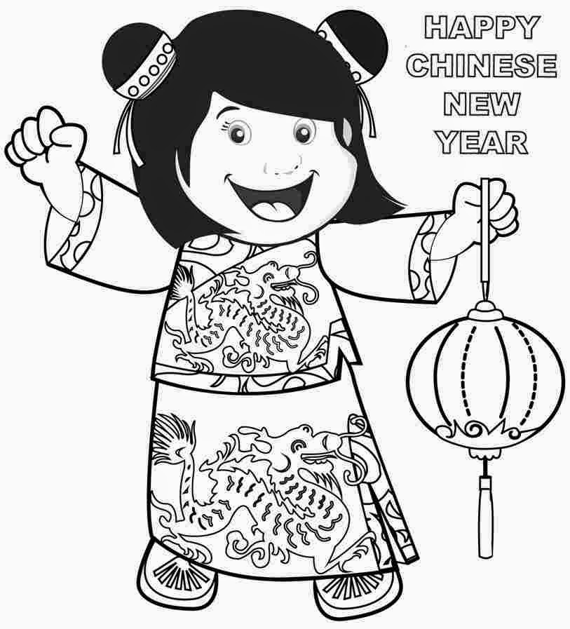 click the woman and mare horse coloring pages chinese new year