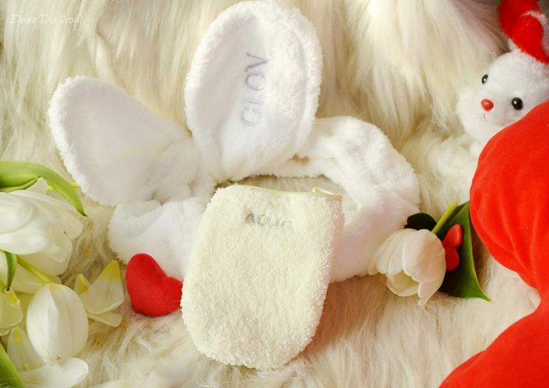 Zestaw Bunny Ears White - Rękawica GLOV On-The-Go, Uszy Bunny Ears