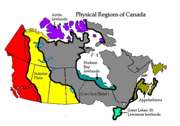 an analysis of the six physical regions of canada Distribution of economic activity canada's economy has traditionally been understood in terms of its geography (see regionalism)since the arrival of the first colonists, development has been heavily influenced by each region's physical attributes.
