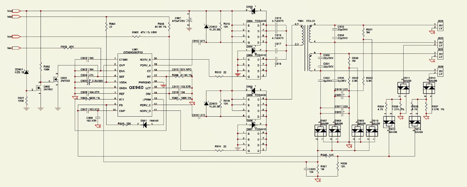 ACER AL1912  MONITOR  SMPS [Power Supply]  SCHEMATIC
