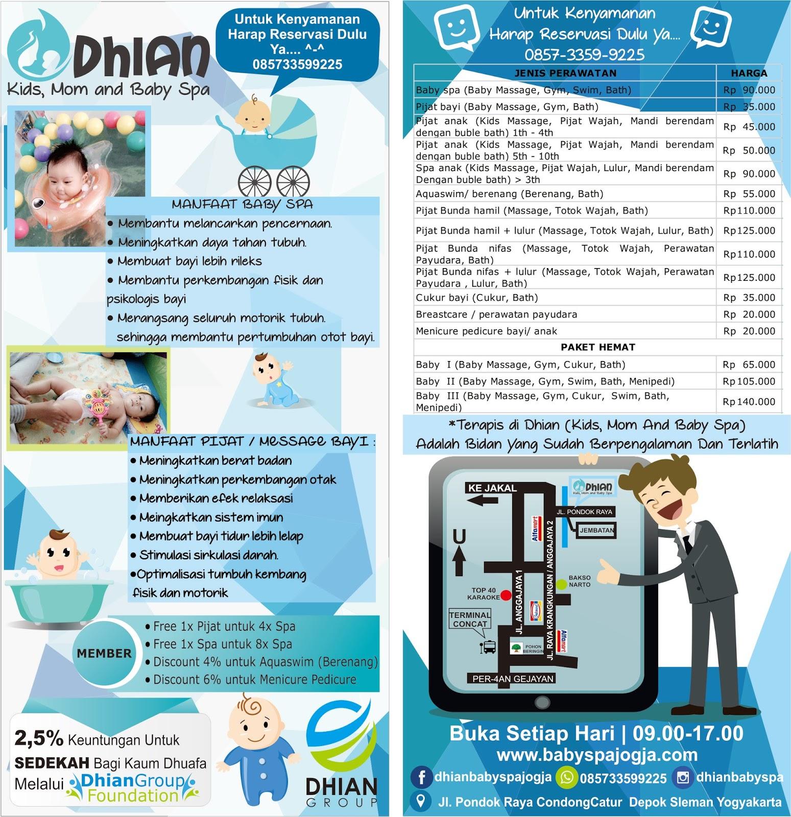 Dhian Baby Spa Jogja Brosur