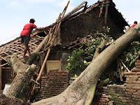 Ratusan Rumah di Klaten Rusak Diterjang Puting Beliung