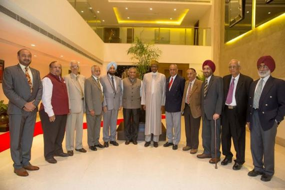 Buhari meets up with old Indian coursemates of 1973