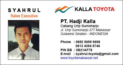Harga Toyota Makassar, Rekomendasi Sales Toyota Hadji Kalla Urip Sumoharjo, Makassar