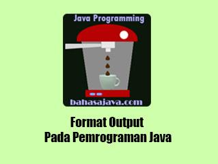 format output program Java