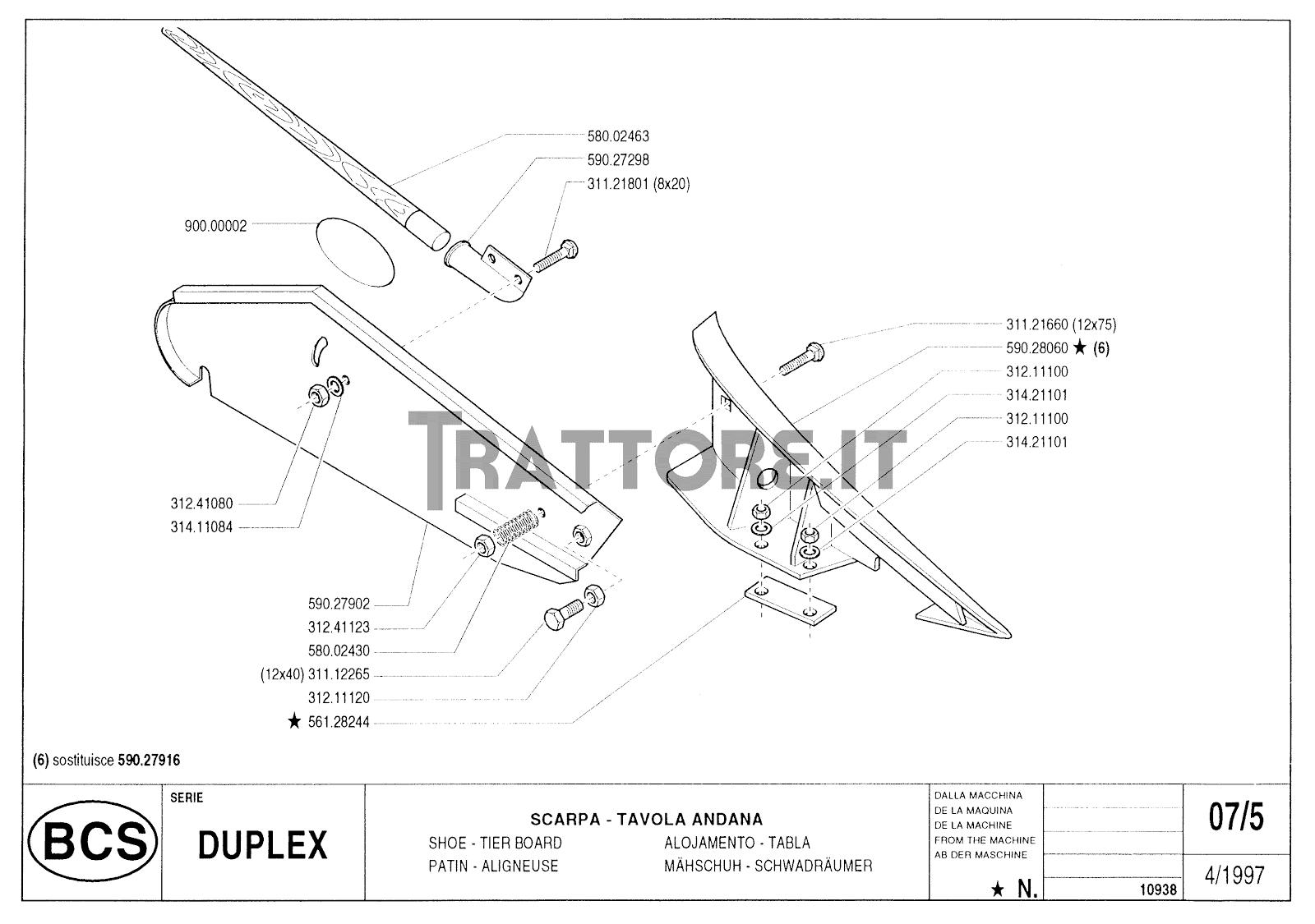 InfoTrattore.it: Manuale (esploso meccanico) Barra