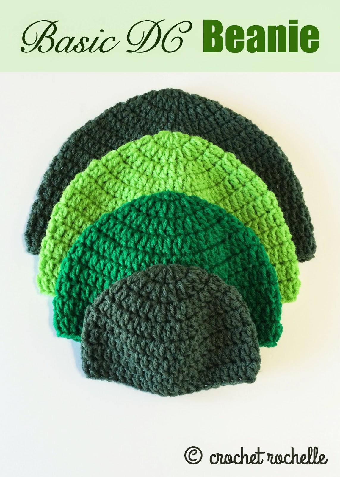 Crochet Rochelle  Basic DC Beanie Pattern f88a9503ecf