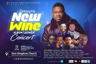 EVENT: Mo' Fusion Town Entertainment Presents Deewyne In An Album Launch & Concert Titled New Wine